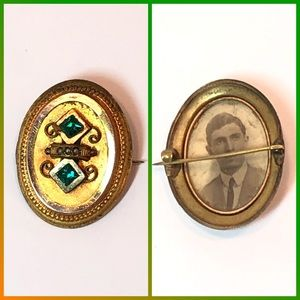 Vintage Brooch with Photo